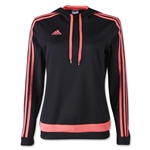 adidas Women's Tiro Hoody (Blk/Red)