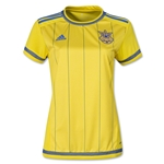 Ukraine 2015 Women's Home Soccer Jersey