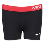 Nike Women's 3 Pro Core Compression Short (Blk/Red)
