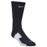 Nike Elite Match Fit Soccer Crew Sock (Bk/Gold)
