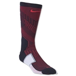 Nike Elite Match Fit Soccer Crew Sock (Blk/Red)
