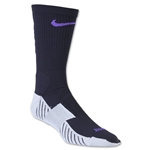 Nike Match Fit Soccer Crew Sock (Blk/Pur)