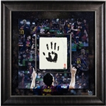Upper Deck Barcelona Messi Tegata 36 x 36 Signed Framed
