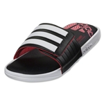 adidas adissage Comfort FF Men's Sandal (White/Black/Vivid Red)