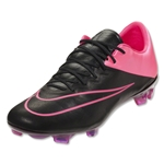 Nike Mercurial Vapor X Leather FG (Black/Hyper Pink)