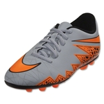 Nike Junior Hypervenom Phade II FG-R (Gray/Total Orange)