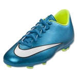 Nike Junior Women's Mercurial Victory V FG (Blue Lagoon/Volt)