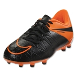 Nike Junior Hypervenom Phelon II TC FG (Black/Total Orange)