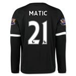 Chelsea 15/16 21 MATIC LS Third Soccer Jersey