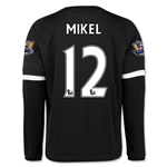 Chelsea 15/16 12 MIKEL LS Third Soccer Jersey