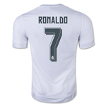 Real Madrid 15/16 RONALDO Youth UCL Home Soccer Jersey