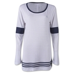 adidas 3-Stripes Women's Tunic T-Shirt (White/Gray)