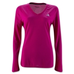 adidas Women's Ultimate LS T-Shirt (Fuchsia)