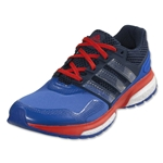 adidas Response Boost 2 Techfit Running Shoe (Blue/White/Bold Orange)