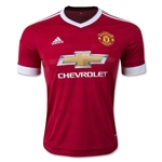 Manchester United 15/16 Authentic Home Soccer Jersey