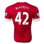 Manchester United 15/16 BLACKETT Authentic Home Soccer Jersey