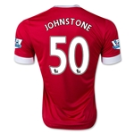 Manchester United 15/16 JOHNSTONE Authentic Home Soccer Jersey