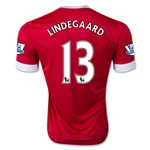 Manchester United 15/16 LINDEGAARD Authentic Home Soccer Jersey