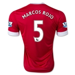 Manchester United 15/16 MARCOS ROJO Authentic Home Soccer Jersey