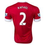 Manchester United 15/16 RAFAEL Authentic Home Soccer Jersey