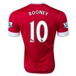 Manchester United 15/16 ROONEY Authentic Home Soccer Jersey