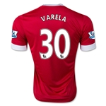 Manchester United 15/16 VARELA Authentic Home Soccer Jersey