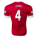 Manchester United 15/16 JONES Home Soccer Jersey