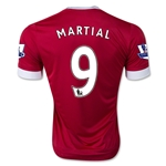 Manchester United 15/16 MARTIAL Home Soccer Jersey