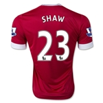 Manchester United 15/16 SHAW Home Soccer Jersey