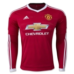 Manchester United 15/16 LS Home Soccer Jersey