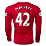 Manchester United 15/16 BLACKETT LS Home Soccer Jersey