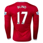 Manchester United 15/16 BLIND LS Home Soccer Jersey