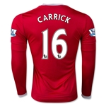 Manchester United 15/16 CARRICK LS Home Soccer Jersey