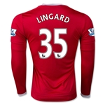 Manchester United 15/16 LINGARD LS Home Soccer Jersey