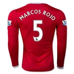 Manchester United 15/16 MARCOS ROJO LS Home Soccer Jersey