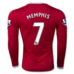 Manchester United 15/16 MEMPHIS LS Home Soccer Jersey
