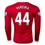 Manchester United 15/16 PEREIRA LS Home Soccer Jersey