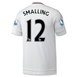 Manchester United 15/16 SMALLING Away Soccer Jersey