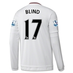 Manchester United 15/16 BLIND LS Away Soccer Jersey
