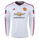 Manchester United 15/16 LS Away Soccer Jersey w/ FA Cup Patch