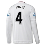 Manchester United 15/16 JONES LS Away Soccer Jersey