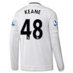 Manchester United 15/16 KEANE LS Away Soccer Jersey