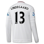 Manchester United 15/16 LINDEGAARD LS Away Soccer Jersey
