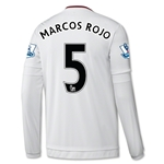 Manchester United 15/16 MARCOS ROJO LS Away Soccer Jersey