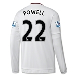 Manchester United 15/16 POWELL LS Away Soccer Jersey