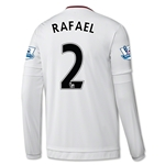 Manchester United 15/16 RAFAEL LS Away Soccer Jersey