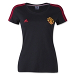 Manchester United Women's 3 Stripe T-Shirt