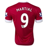 Manchester United 15/16 MARTIAL Youth Home Soccer Jersey