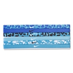 Nike Printed Headband Assorted 6 Pack (Blue)