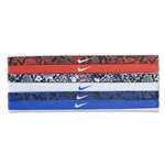 Nike Printed Headband Assorted 6 Pack (Sc/Wh)